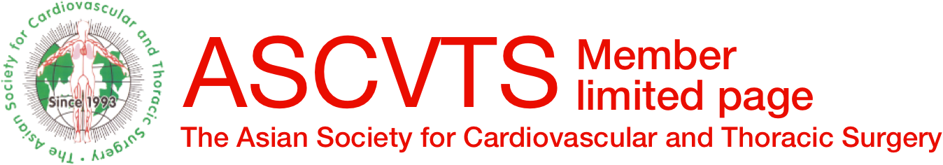 ASCVTS [The Asian Society for Cardiovascular and Thoracic Surgery] Member limited page